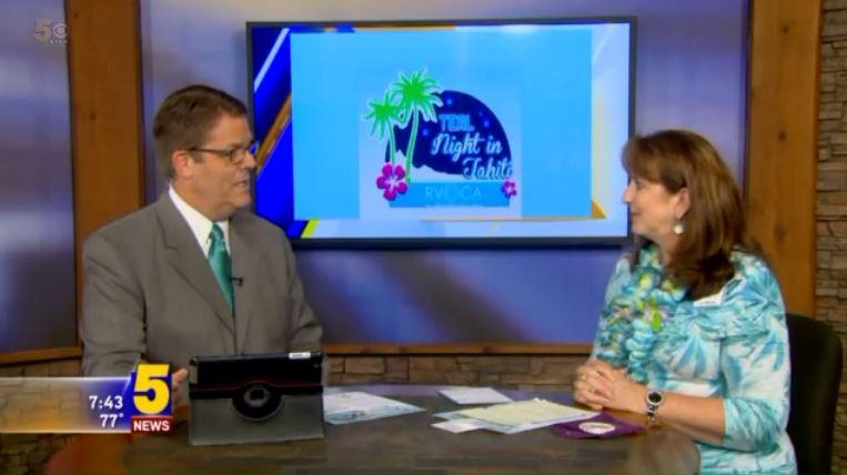 KFSM Channel 5 News Teal Night in Tahiti Daren Bobb Liz Martin River Valley Ovarian Cancer Alliance