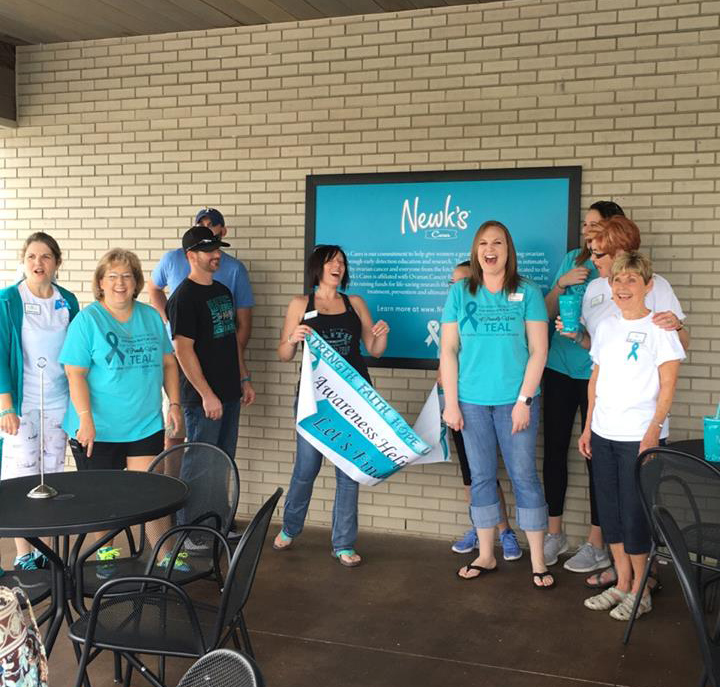 River Valley Ovarian Cancer Alliance Fort Smith ARkansas Newks Cafe Newks Cares Bentonville Rogers NWA